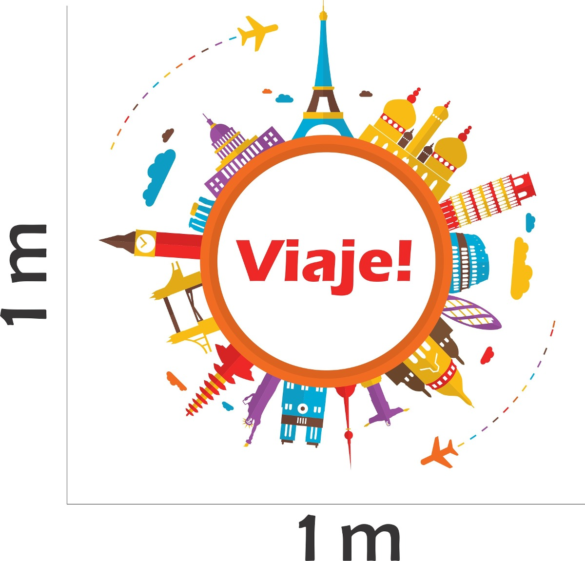 Armario Que Vira Mesa Tok Stok ~ Adesivo Parede Viagem Travel Torre Eiffel Big Ben Londres