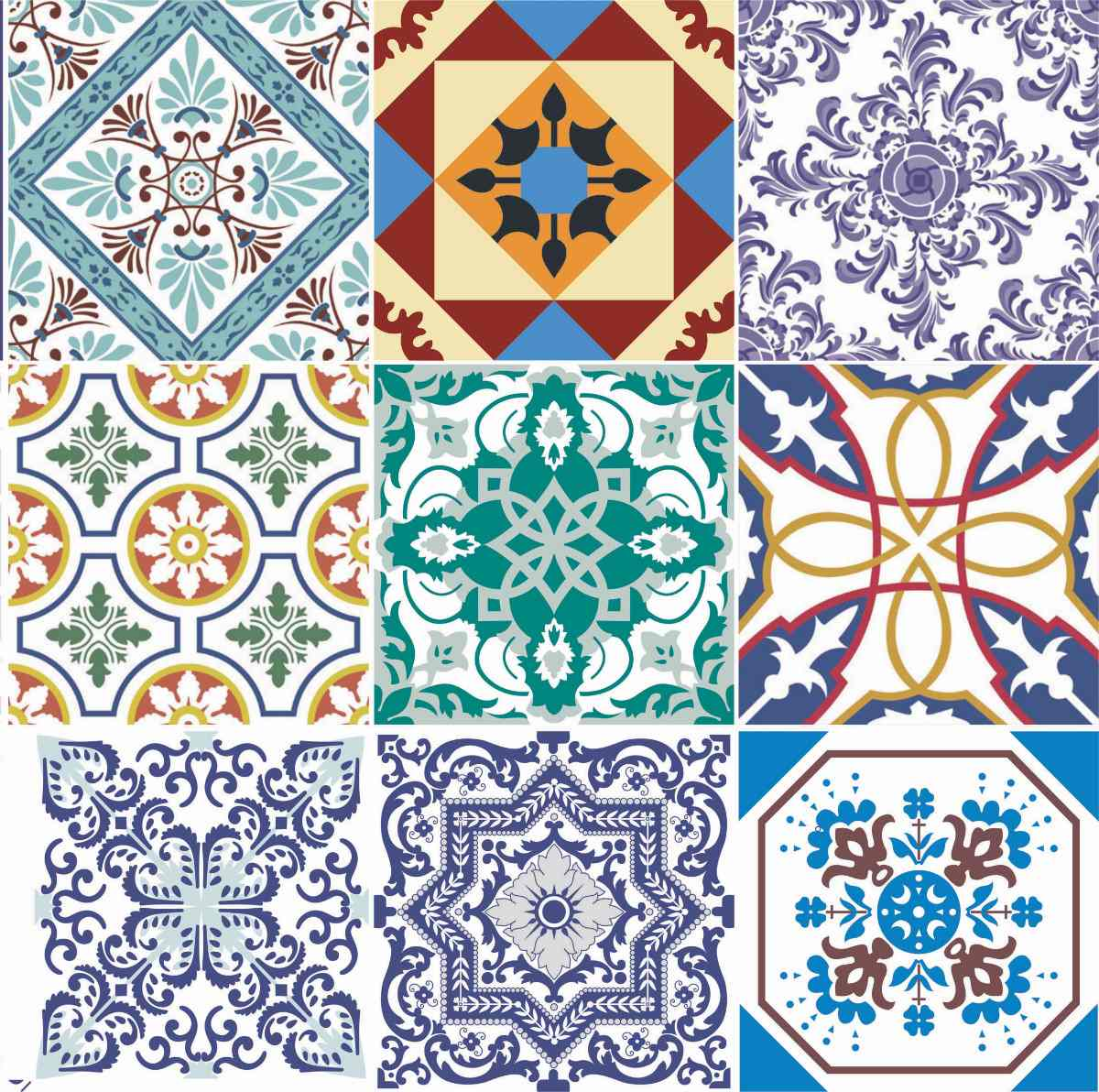 Adesivo pastilha azulejo ladrilho 20 unidades 15x15 r for Azulejo 15x15