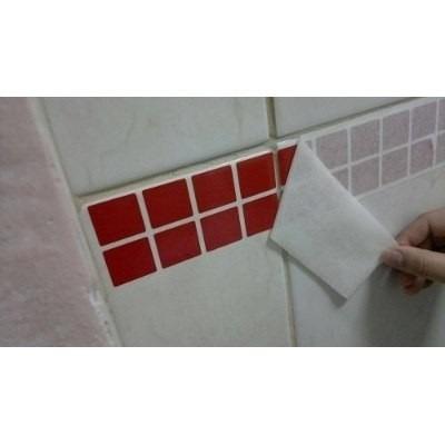 adesivo pastilha faixa para cozinha/banheiro + brinde