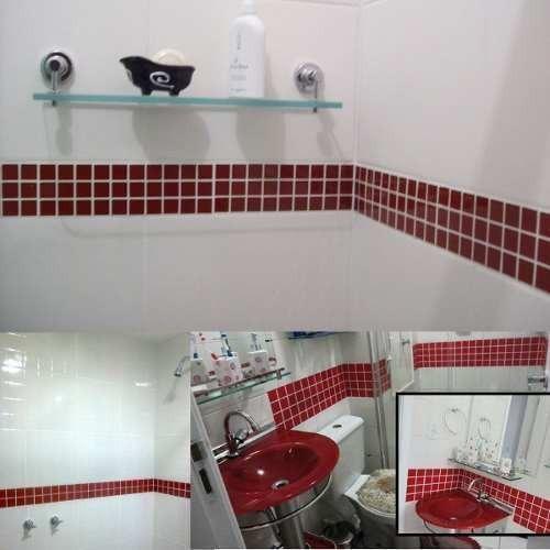 Adesivo Pastilhas Decorativas Azulejos Copa Banheiro Cozinha R