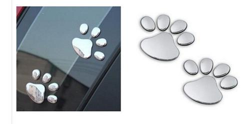adesivo pata cachorro patinha cão carro moto 3d alto relevo