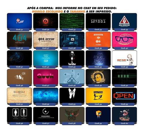 adesivo pelicula notebook netebook nerd geek jogos games