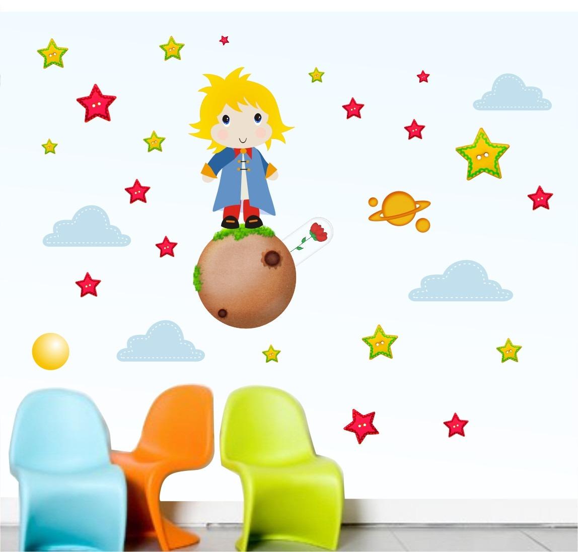 Adesivo Pequeno Principe Quarto Infantil Menino Bebe R 59 00 Em  ~ Desenhos Para Quarto Infantil E Foto De Quarto De Menino