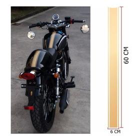 Adesivo Personalizado Faixa Para Lama Tanque De Moto Tunning
