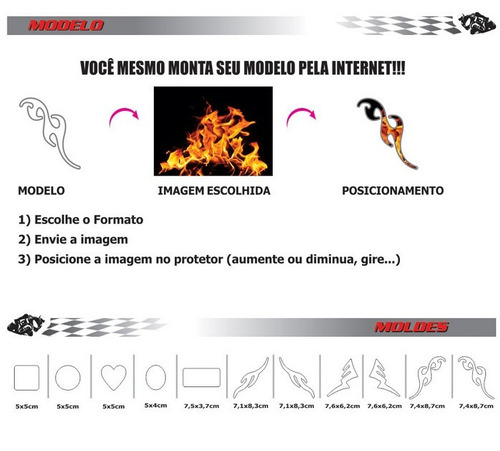 adesivo personalizado refletivo capacete carro moto tuning