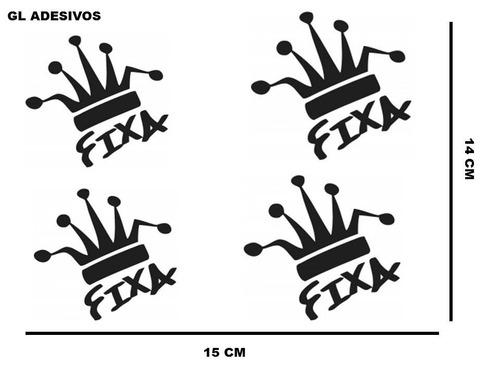 adesivo personalizados coroa  fixa carros motos rebaixados