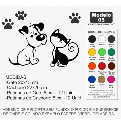 adesivo pet shop gato e cachorro 24 patinhas patas mod.5 - p
