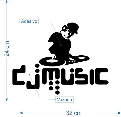 adesivo pick up dj music p/ porta geladeira etc 32cm a285