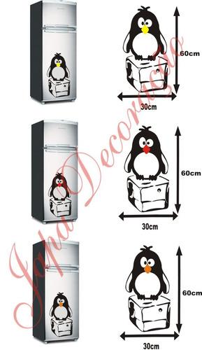 adesivo pinguim geladeira freezer vários modelos a escolher