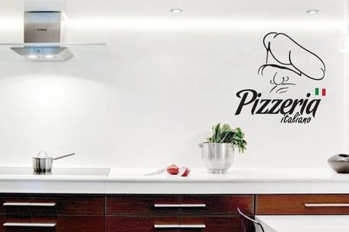 adesivo pizzaria italiana - mudo minha casa