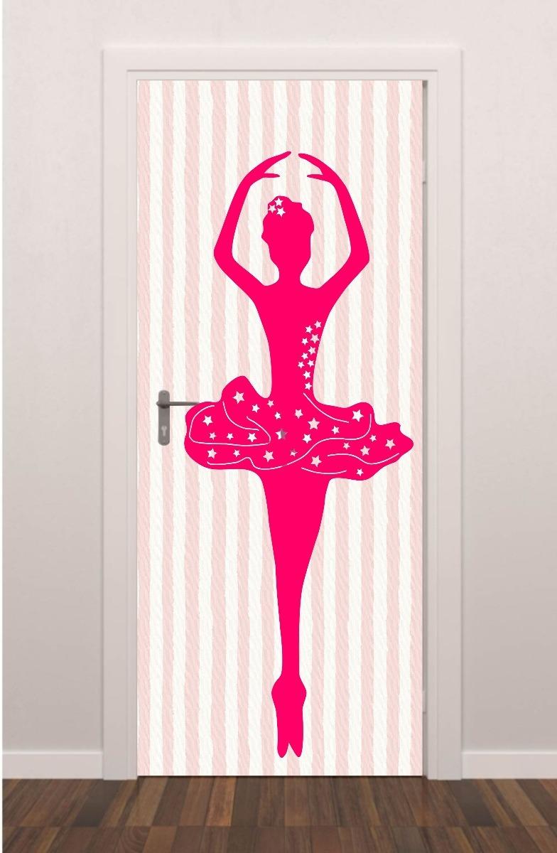 963d3f2e8e adesivo plotagem porta listras rosas bailarina infantil. Carregando zoom.