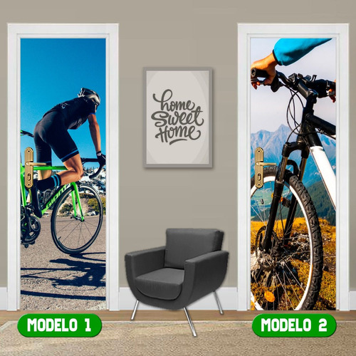 adesivo porta amantes do esporte trilha bike bicicleta pedal
