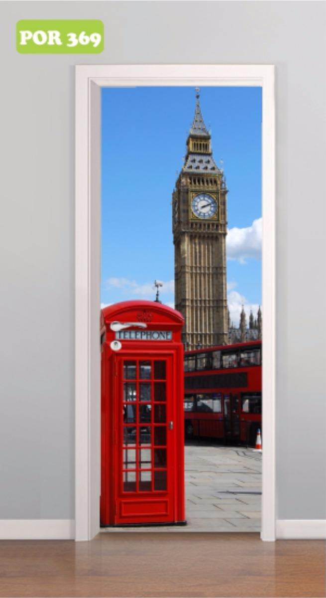2e30f5948 adesivo porta cabine telefônica londres big ben - mod. 369. Carregando zoom.