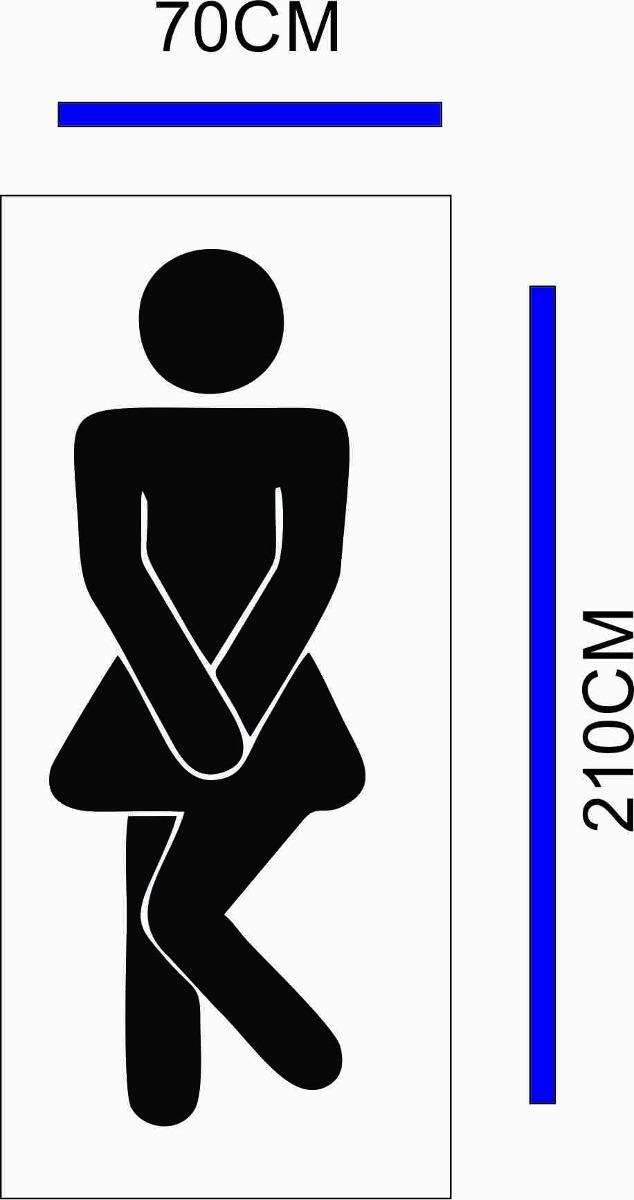 Adesivo Porta De Banheiro Feminino  R$ 99,90 em Mercado Livre -> Foto Banheiro Feminino