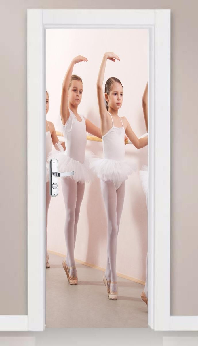 907f10879b adesivo porta e parede dançarina ballet infantil bailarinas. Carregando  zoom.