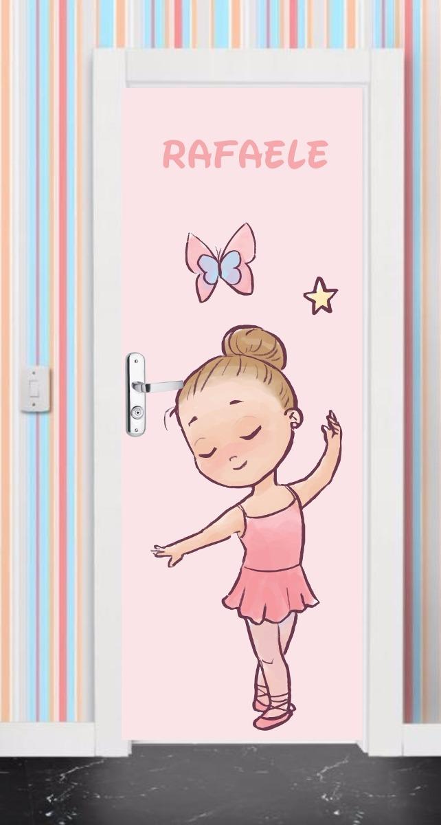 22c9004219 adesivo porta e parede infantil ballet sapatilha bailarina. Carregando zoom.