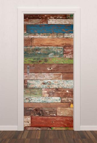 adesivo porta fundo madeira patina quarto sala banheiro