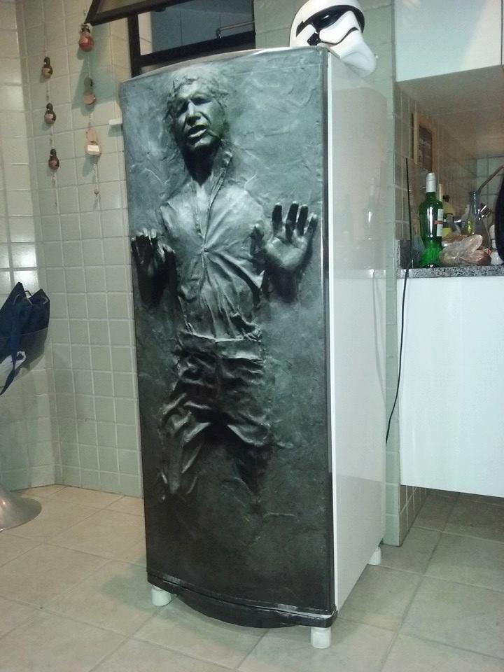 Adesivo Parede Dente De Leão ~ Adesivo Porta geladeira Han Solo Congelado Star Wars 3d R$ 89,99 em Mercado Livre