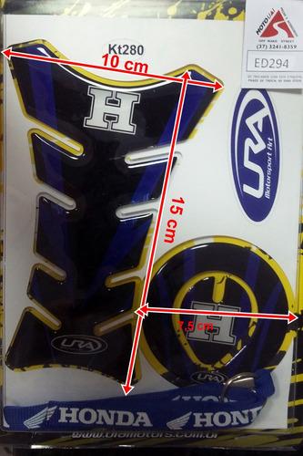 adesivo protetor de tanque - honda azul - cg/ fan / titan