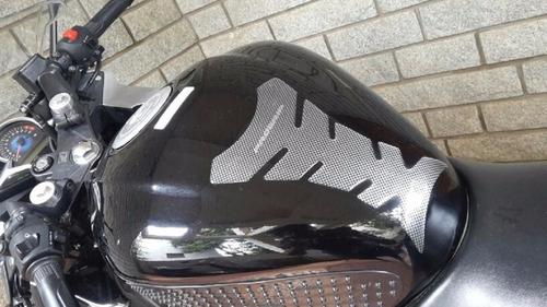 adesivo protetor de tanque tank pad moto universal carbono