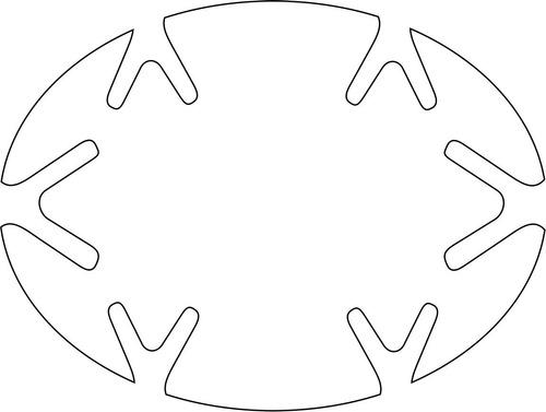 adesivo protetor maçaneta porta carro - 4 und