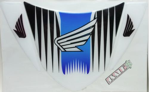 adesivo protetor rabeta moto resinado honda azul - universal