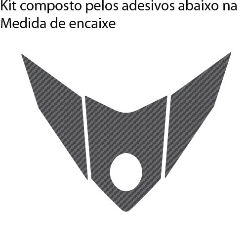 adesivo protetor relevo 3d carbono rabeta moto yamaha yzf r3