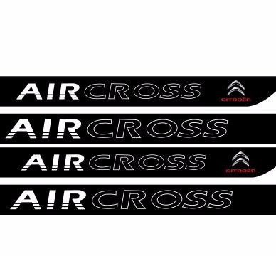 adesivo protetor soleira carro citroen aircross m1 fret free