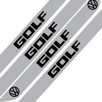 adesivo protetor soleira porta carro vw volkswagen golf m6