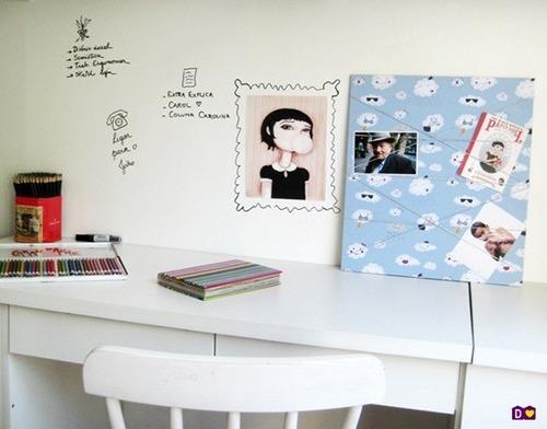 adesivo quadro branco 50cm x 200cm lousa promocional