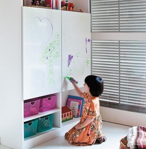 adesivo quadro branco lousa 50cm x 100cm
