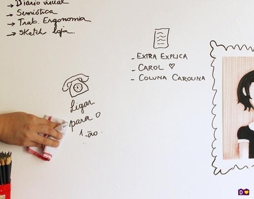 adesivo quadro branco lousa profissional personalize - leia
