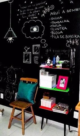 adesivo quadro negro lousa 100cm x 200cm + brinde giz
