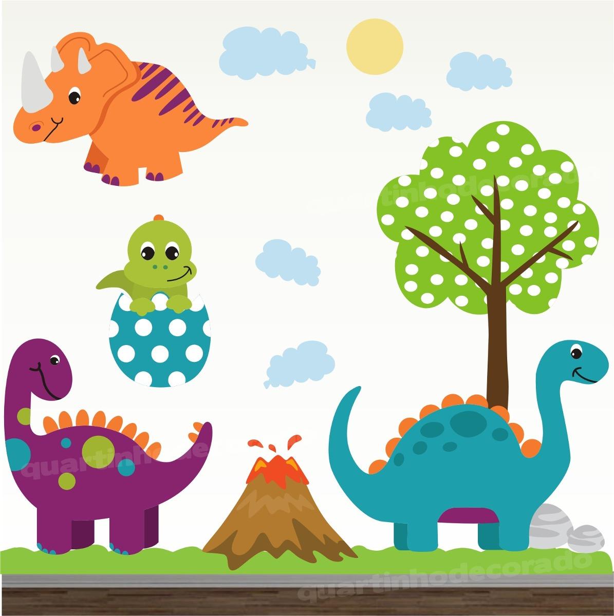 Aparador Wengue ~ Adesivo Quarto Bebe Dinossauro Zoo Safari Decorativo Parede R$ 148,00 em Mercado Livre