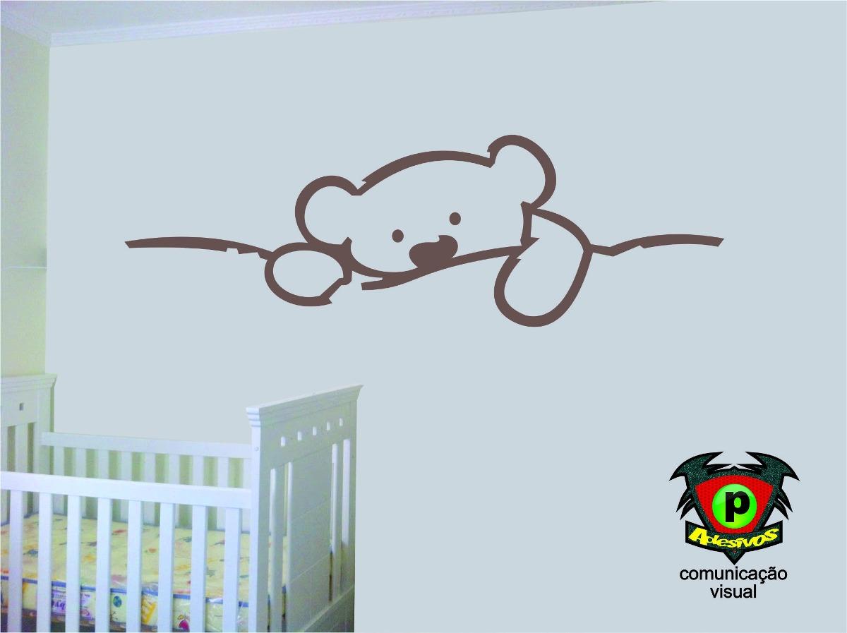 Aparador Pequeno Preto ~ Adesivo Quarto Bebe Ursinho R$ 29,99 em Mercado Livre
