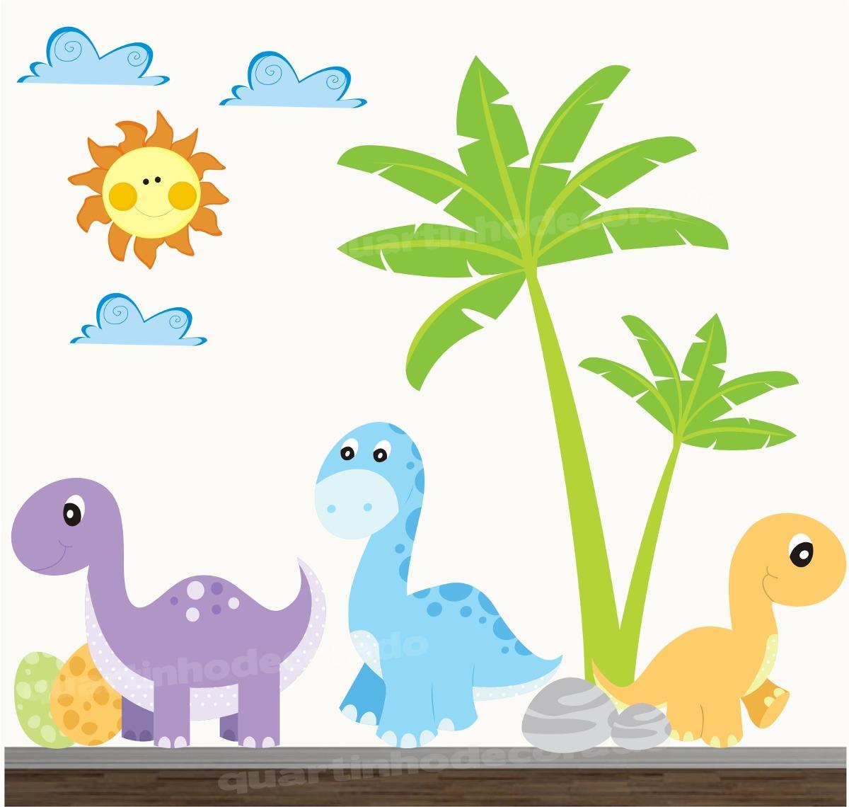 Adesivo Quarto Infantil Dinossauro Zoo Safari Decorativo R 148
