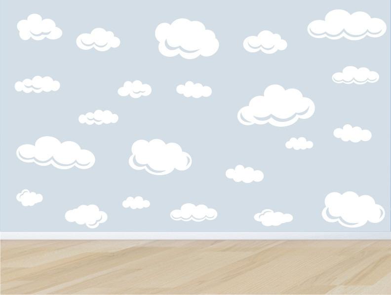 Artesanato Folclore Regiao Nordeste ~ Adesivo Quarto Infantil Parede Kit Nuvens Nuvem Bebe Zoo M03 R$ 89,90 em Mercado Livre