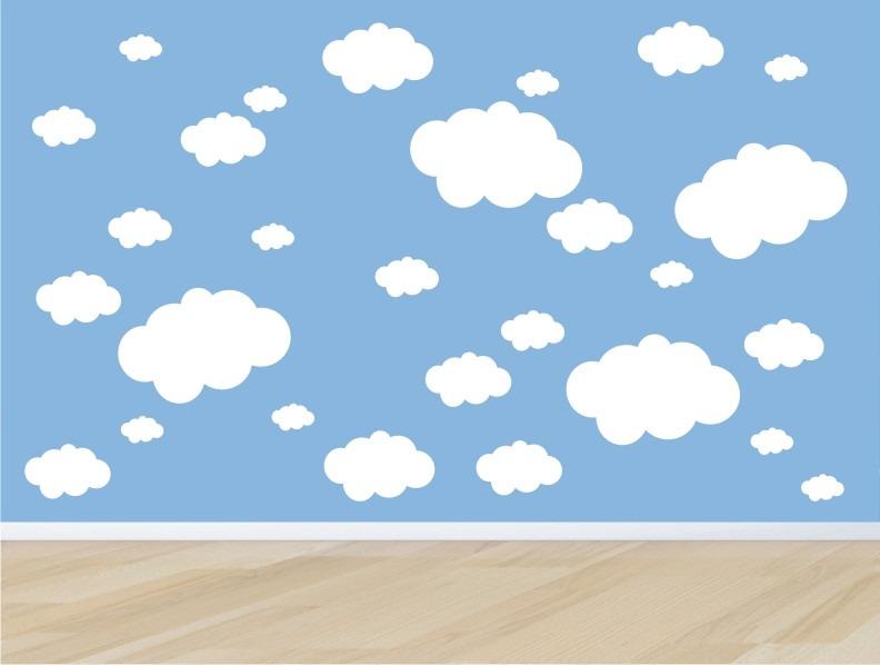 Artesanato Brasileiro Em Sp ~ Adesivo Quarto Infantil Parede Kit Nuvens Nuvem Bebe Zoo