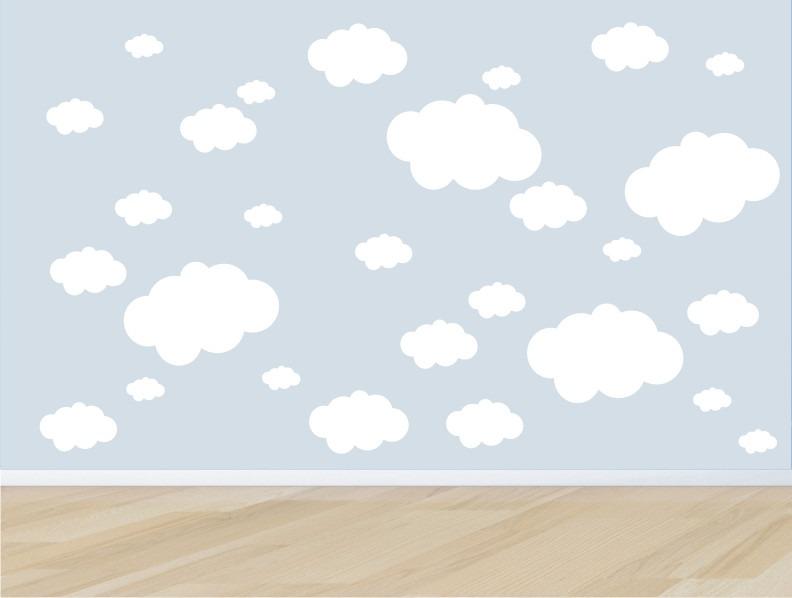 Adesivo Nuvem Branca ~ Adesivo Quarto Infantil Parede Kit Nuvens Nuvem Bebe Zoo M05 R$ 89,90 em Mercado Livre