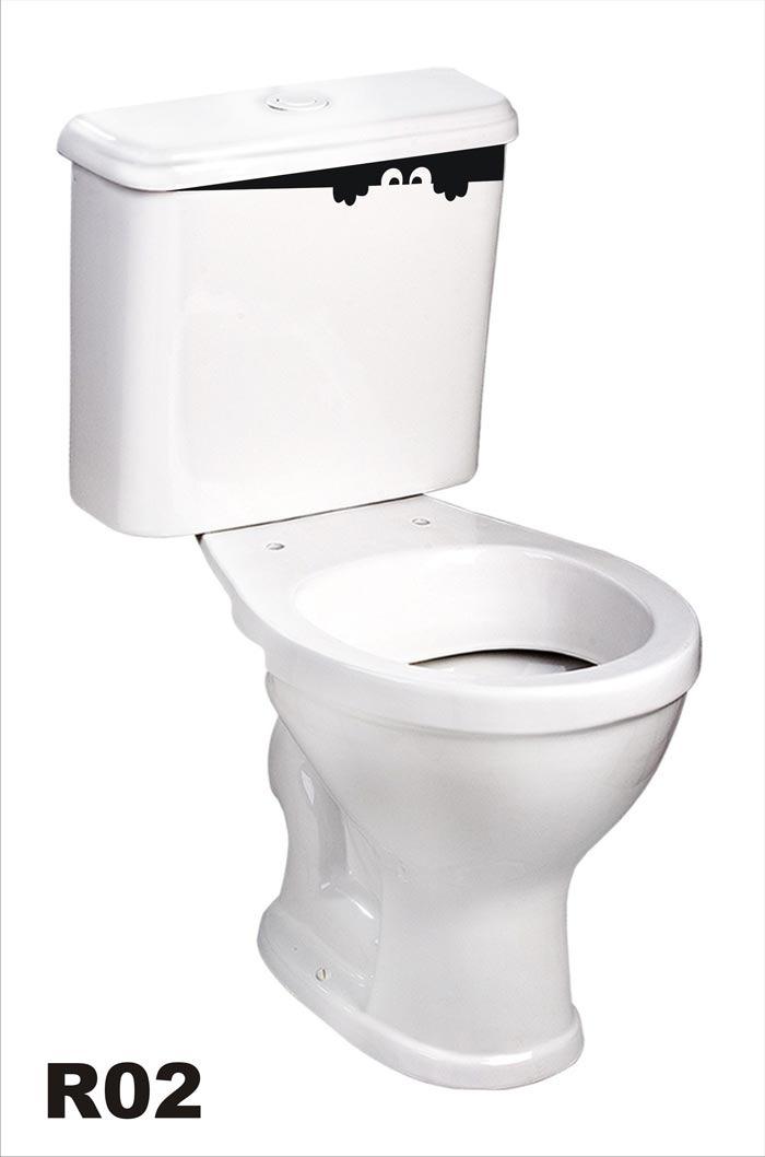 Armario Keter ~ Adesivo R02 Para Caixa De Descarga Do Vaso Sanitário Olhos R$ 19,99 em Mercado Livre