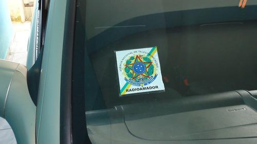 adesivo radioamador para vidro interno do carro frete r$ 7,0