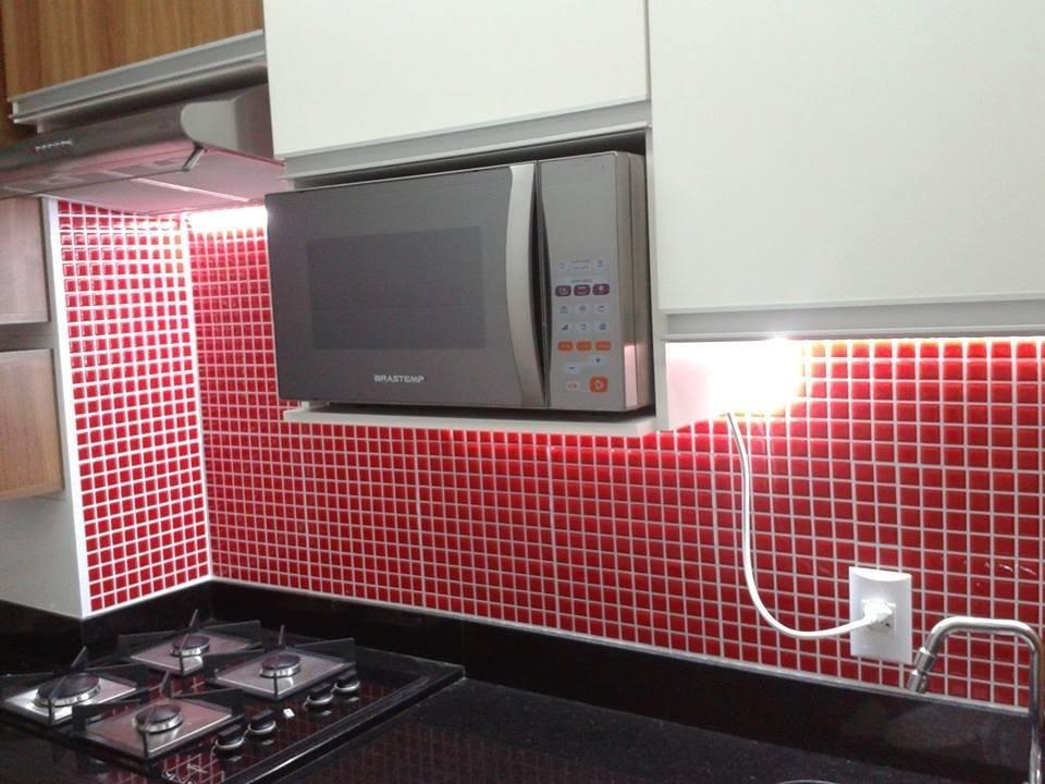 Aparador Rommanel ~ Adesivo Recorte Pastilha Decorativa Cozinha E Banheiro R