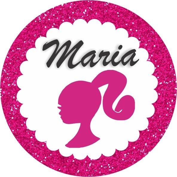 Armario Para Cozinha Pequena De Parede ~ Adesivo Redondo Personalizado Latinha Barbie 30 Unidades R$ 12,00 em Mercado Livre