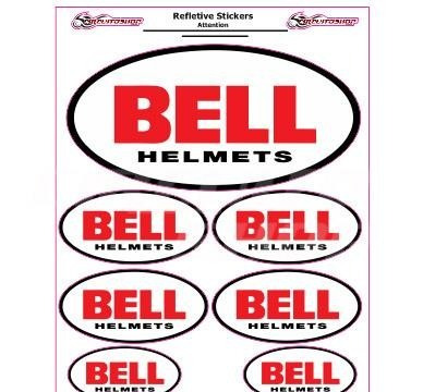 adesivo refletivo moto capacete carro bell m1 + tuning top