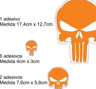 adesivo refletivo moto capacete carro punisher fanstasma m4
