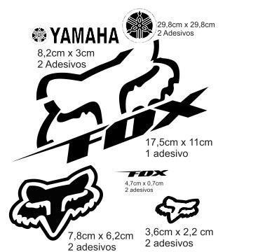 adesivo refletivo moto capacete carro yamaha fox tuning top