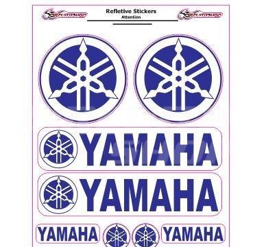 adesivo refletivo moto capacete carro yamaha + tuning top