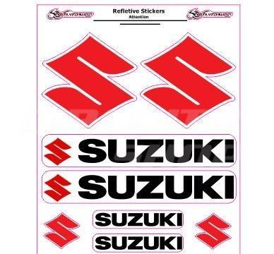 adesivo refletivo moto roda bau car capacete carro suzuki m1