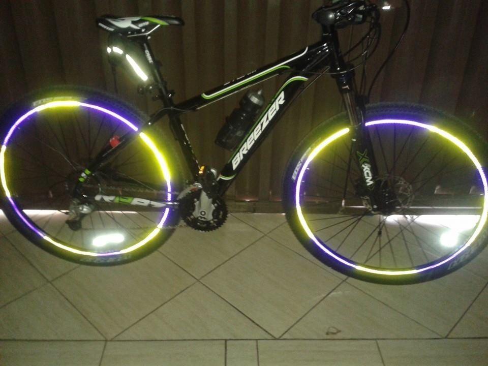Adesivo Refletivo Para Aro Bike& Moto Varias Cores R