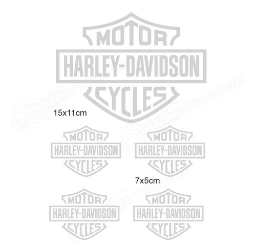adesivo refletivo recorte moto capacete harley davidson